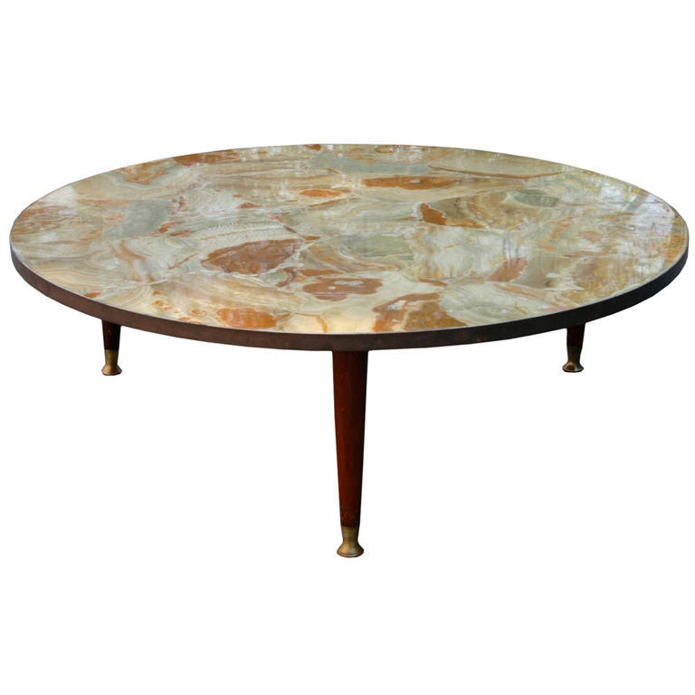 Agate Marble And Brass Round Cocktail Table At 1stdibs: Psilo.jpg