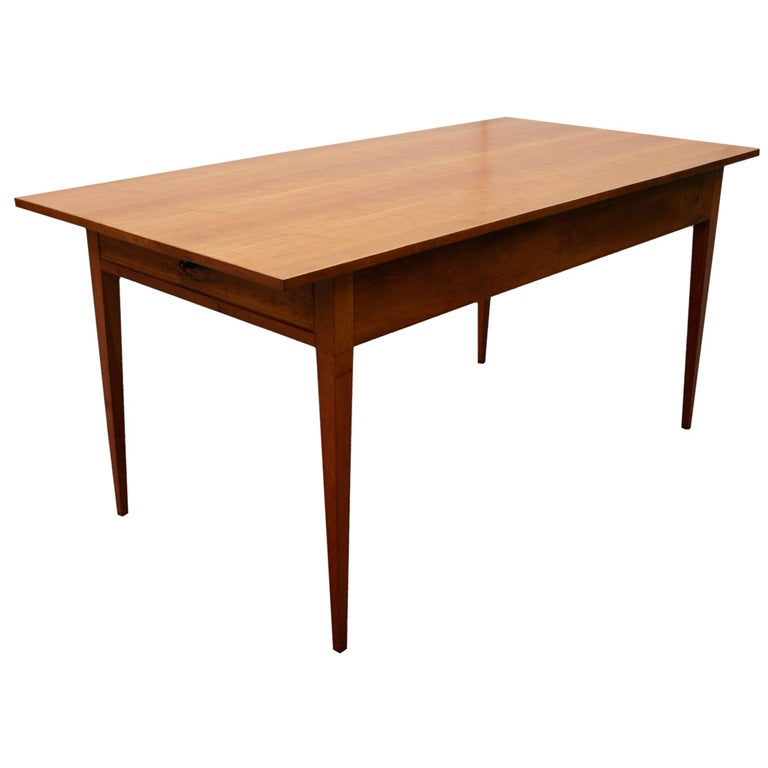 Cherry Shaker Style Table At 1stdibs
