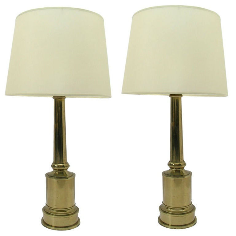 this pair of brass table lamps is no longer available. Black Bedroom Furniture Sets. Home Design Ideas