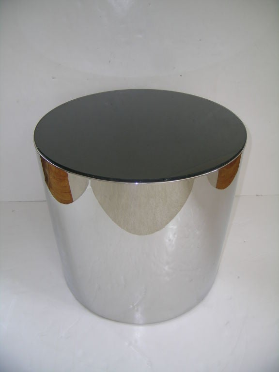 American Pair of Canister Side Tables