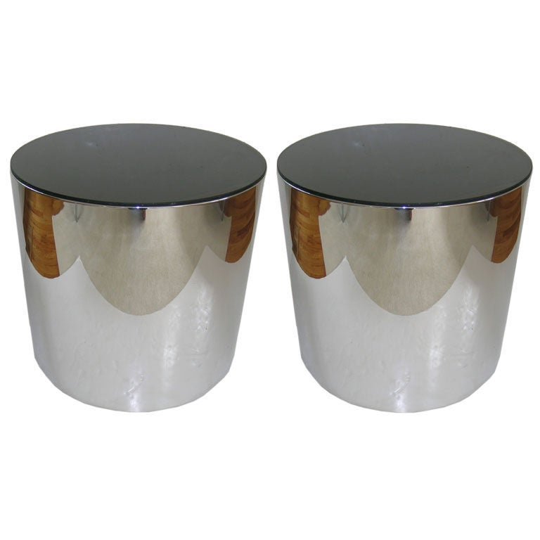 Pair of Canister Side Tables
