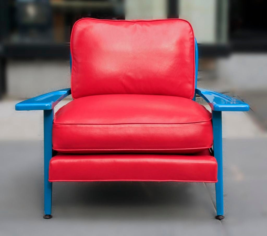 Turquoise Lacquered Chair by Paul Laszlo at 1stdibs