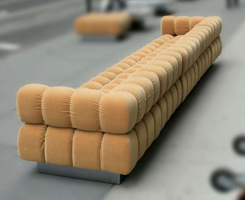 Deep Tuft Sectional By Harvey Probber At 1stdibs
