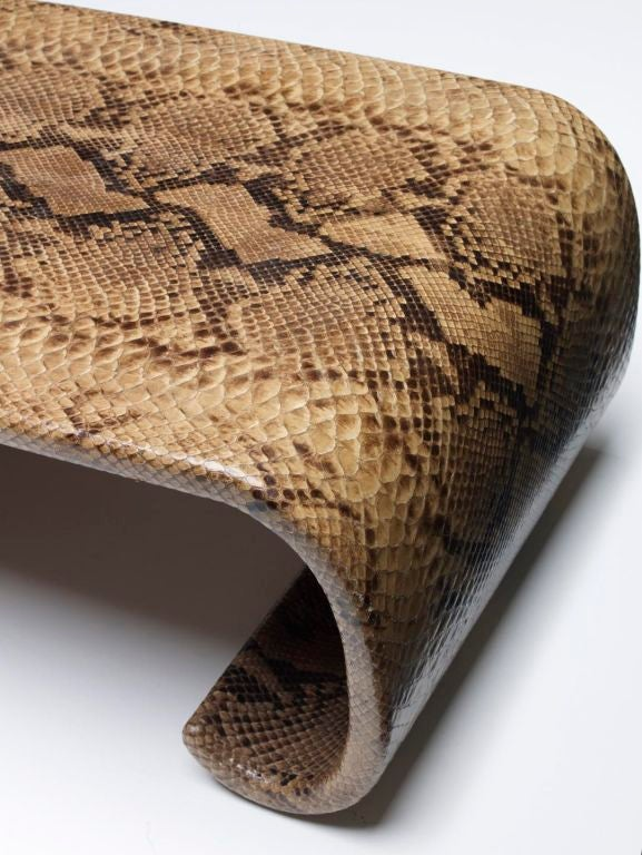 Python coffee table signed karl springer at 1stdibs for Table in python