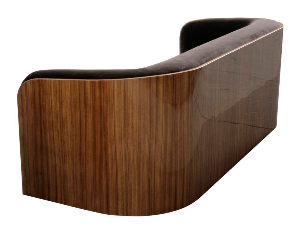 A Zebra Wood Sofa By Karl Springer At 1stdibs