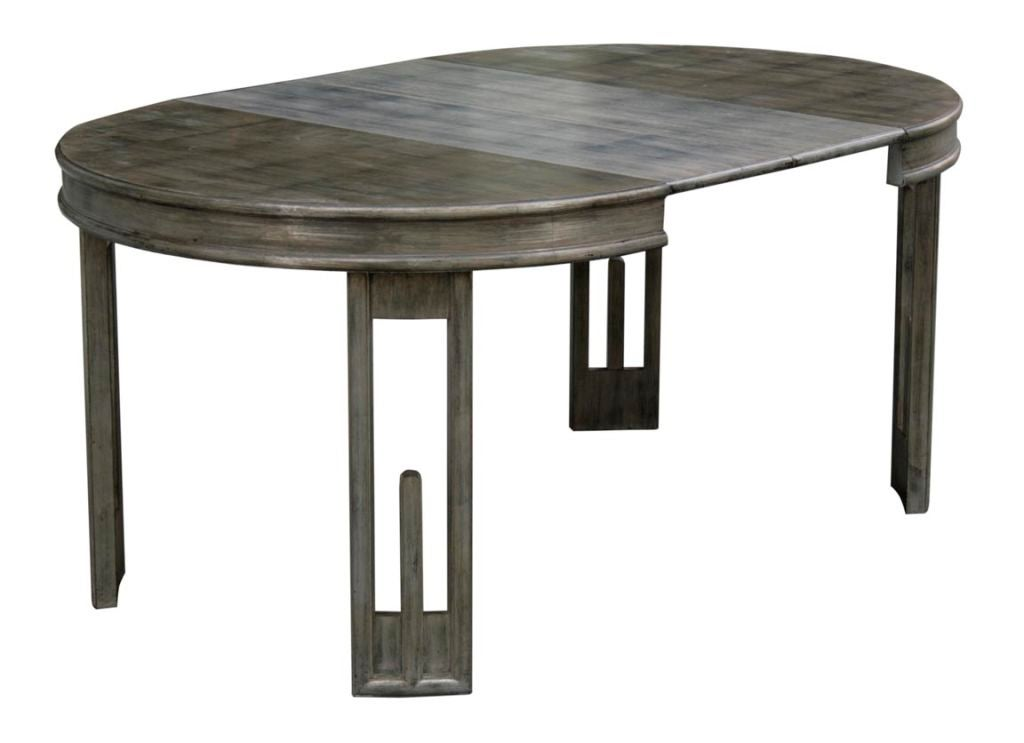 patinated silver leaf dining table by james mont at 1stdibs