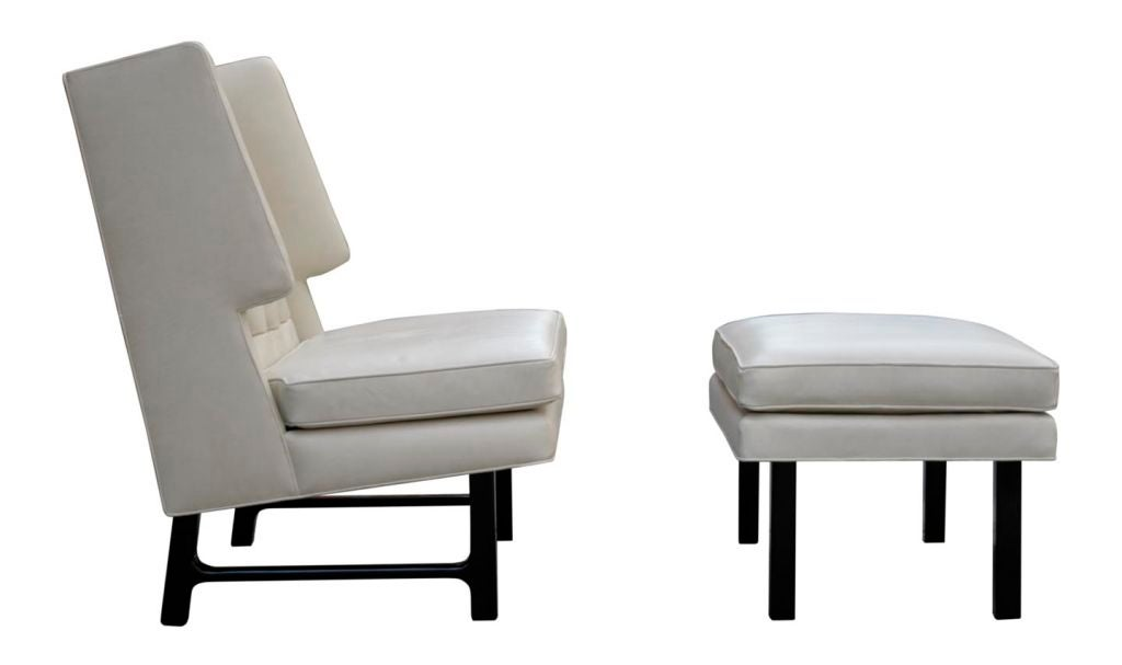 Lounge Chair and Ottoman by Edward Wormley at 1stdibs