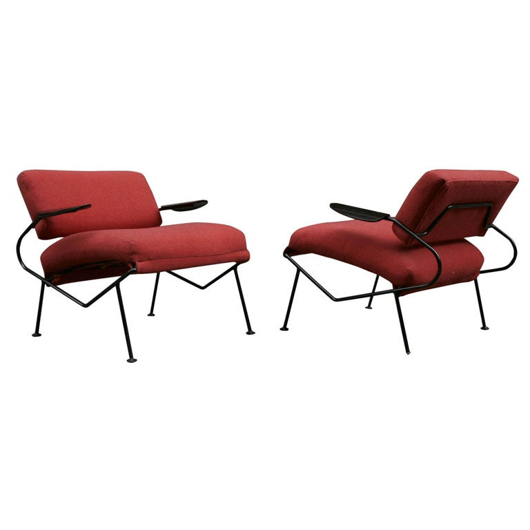 Pair Of Lounge Chairs By Dan Johnson At 1stdibs