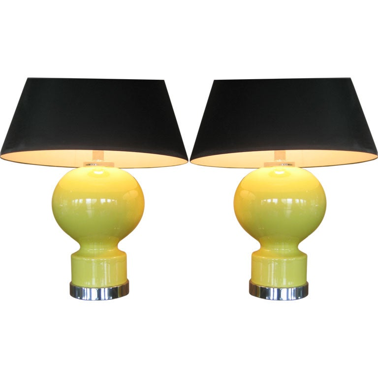 A Great Pair of Ceramic Lamps For Sale
