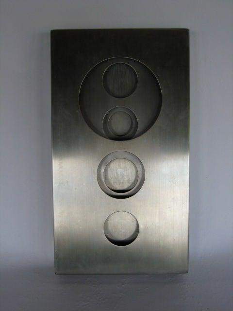 Stainless Steel Optical Sculpture by Romano Santucci 5