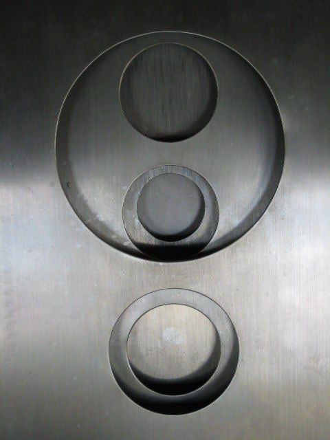 Stainless Steel Optical Sculpture by Romano Santucci 2