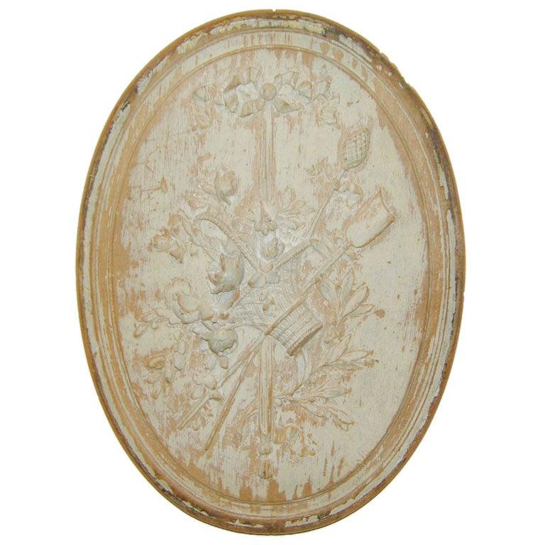18th century Boiserie Roundel For Sale