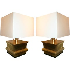 Table Lamps Mid Century Modern brass 1960's