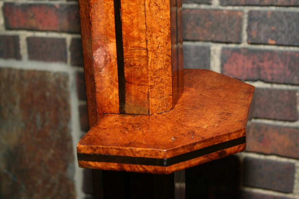 Floor Lamp Art Deco Architectural burled wood France 1930's In Good Condition For Sale In New York, NY