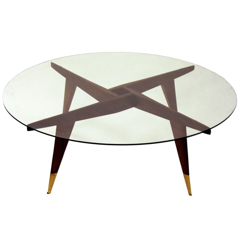 Compass Cocktail Table By Gio Ponti For Singer And Sons At