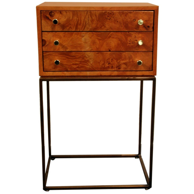Three-Drawer Jewelry Chest by Milo Baughman For Sale