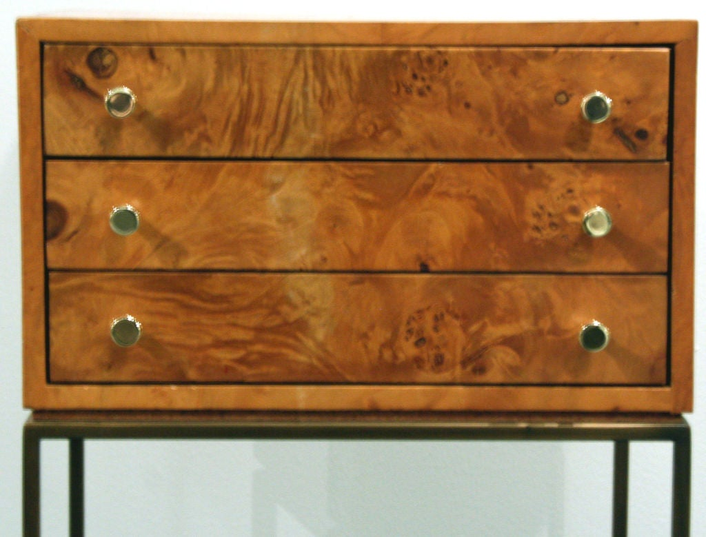 American Three-Drawer Jewelry Chest by Milo Baughman For Sale