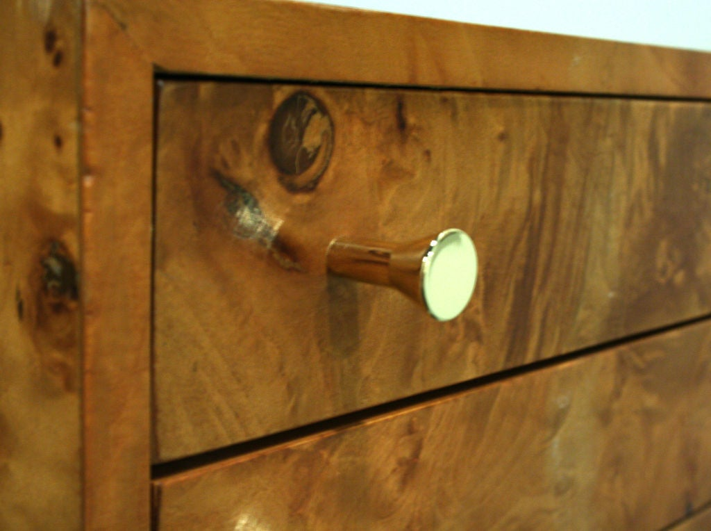 Three-Drawer Jewelry Chest by Milo Baughman In Excellent Condition For Sale In New York, NY