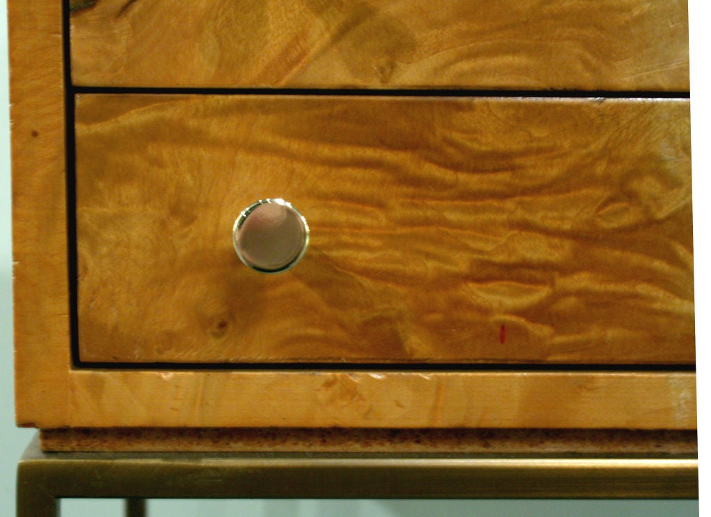 Late 20th Century Three-Drawer Jewelry Chest by Milo Baughman For Sale