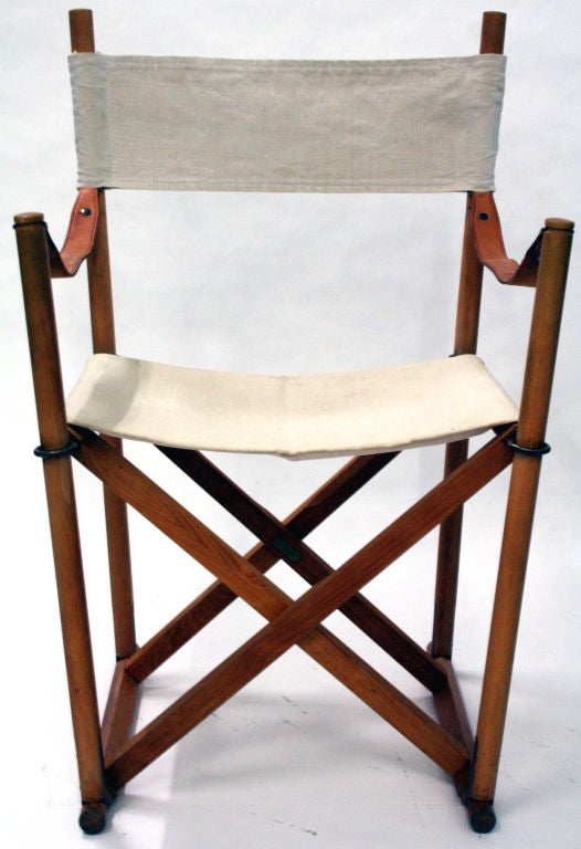 Pair Of Safari Folding Arm Chairs By Mogens Koch At 1stdibs