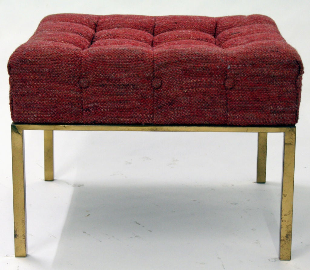 American Square Tufted Ottoman By Harvey Probber For Sale