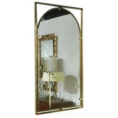Framed Arch Brass Entry Mirror by John Stuart