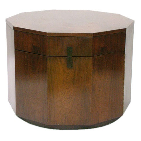 Rosewood Decagon Lamp Table by Harvey Probber