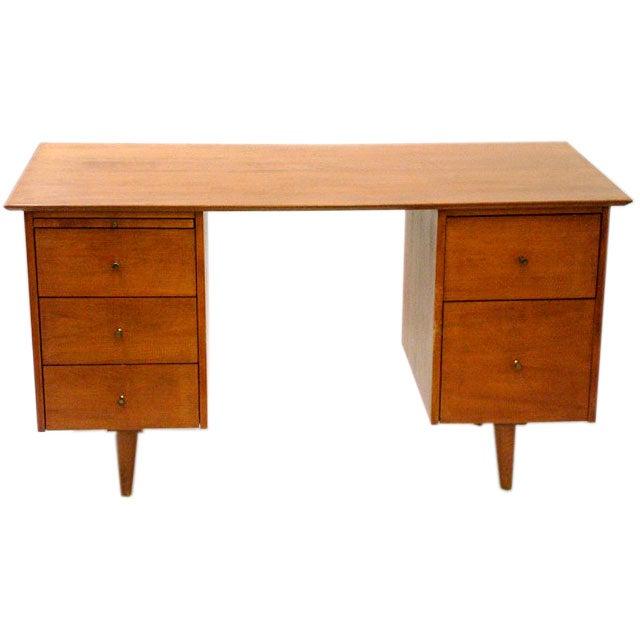 Double Pedestal Planner Group Desk by Paul McCobb