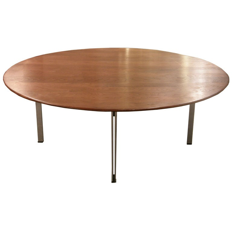 parallel bar walnut cocktail table by florence knoll for knoll for sale at 1stdibs. Black Bedroom Furniture Sets. Home Design Ideas