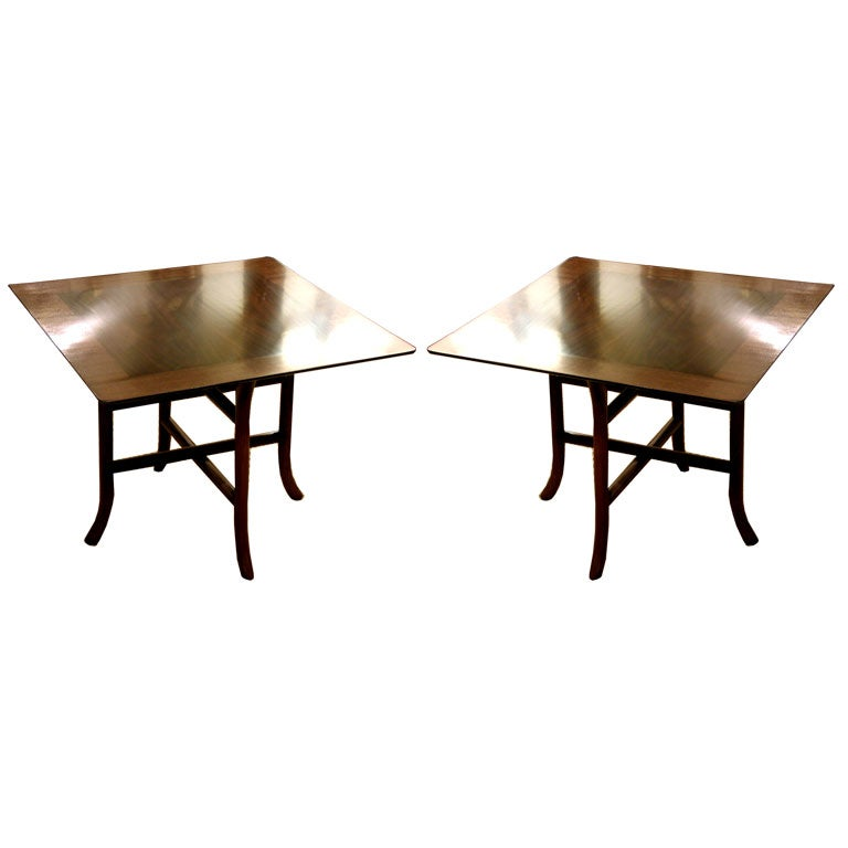 Pair of Drinks Tables by T.H. Robsjohn-Gibbings for Widdicomb