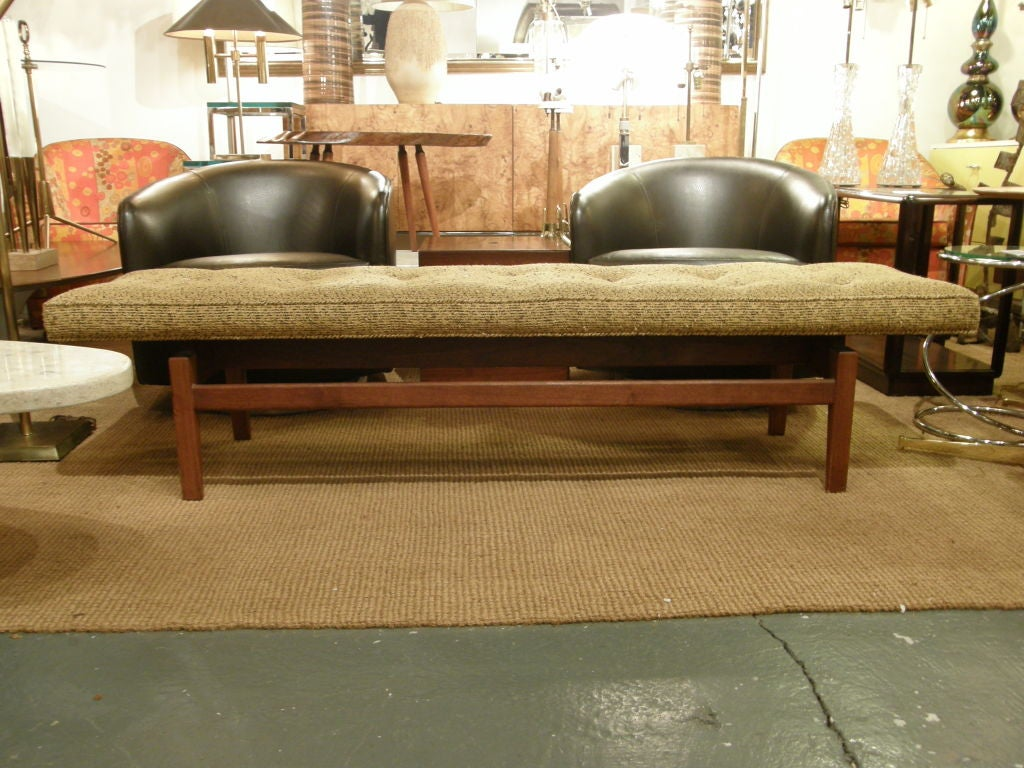 Jens risom floating bench for sale at 1stdibs - Six Foot Long Floating Upholstered Bench By Jens Risom 3