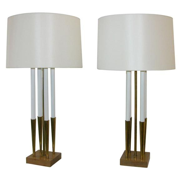 Pair Of Tall Candelabra Table Lamps From Stiffel For Sale