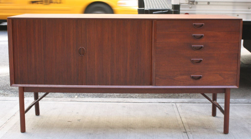 Teak Tambour Door Sideboard by Peter Hvidt 2