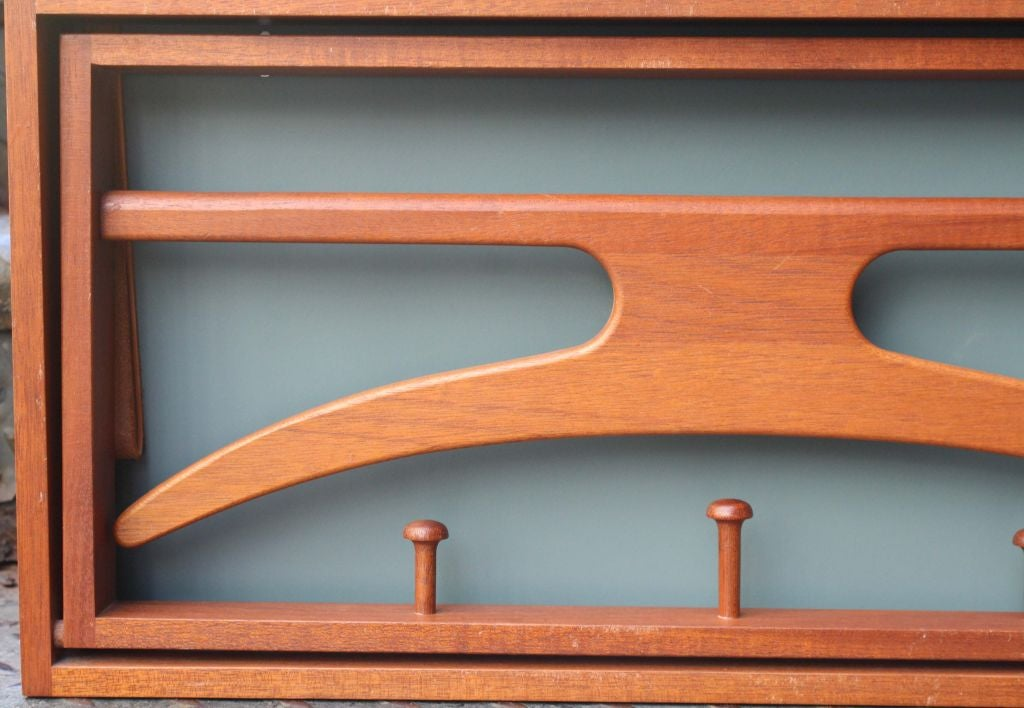 Mid 20th Century Ingenious Danish Wall Mount Folding Valet By Adam Hoff And Poul Ostergaard