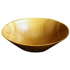 American Studio Craft Hand-Carved Wooden Bowl by Harry Nohr
