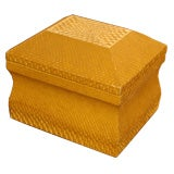 Lemon Yellow Python Skin Jewelry Box by Karl Springer