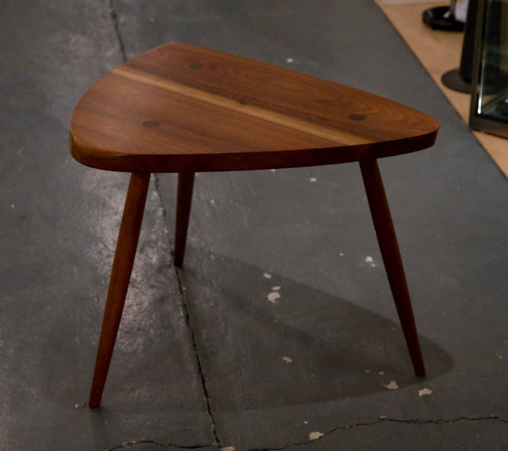 Nakashima Table walnut tripod lamp tablegeorge nakashima for sale at 1stdibs