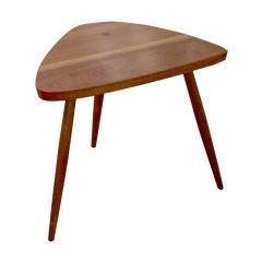 Walnut Tripod Lamp Table by George Nakashima