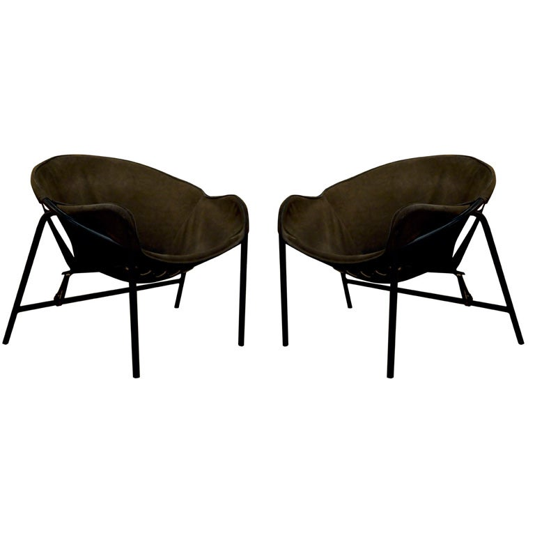 Pair of Radical Sling Lounge Chairs from Bovirke at 1stdibs