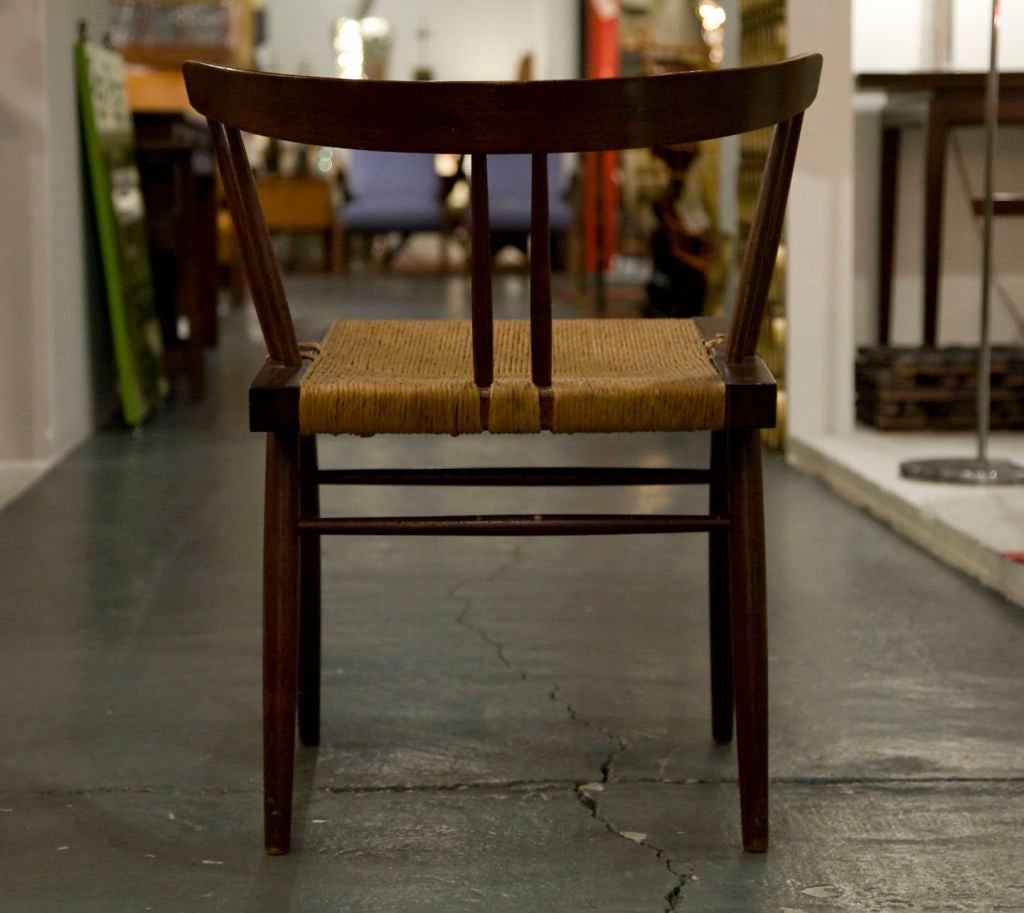 Set of Four Grass Seated Dining Chairs by George Nakashima In Good Condition For Sale In New York, NY