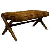 Trestle Base Upholstered Bench by T.H. Robsjohn-Gibbings