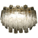 Penta Foil Glass Tube Chandelier by Camer