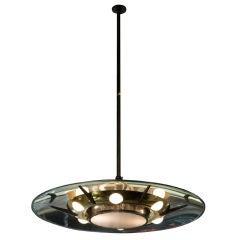 Flying Saucer Glass Disc Chandelier by Stilnovo