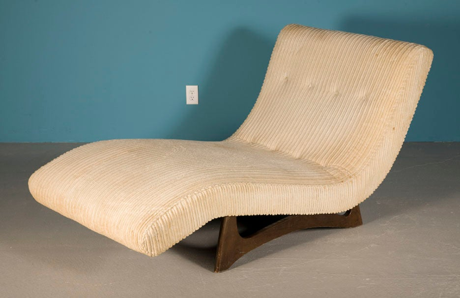 Doublewide wave chaise longue by craft associates for sale for 1 zitsbank met chaise longue