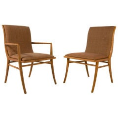 Set of 12 Sabre Leg Dining Chairs by T.H. Robsjohn-Gibbings