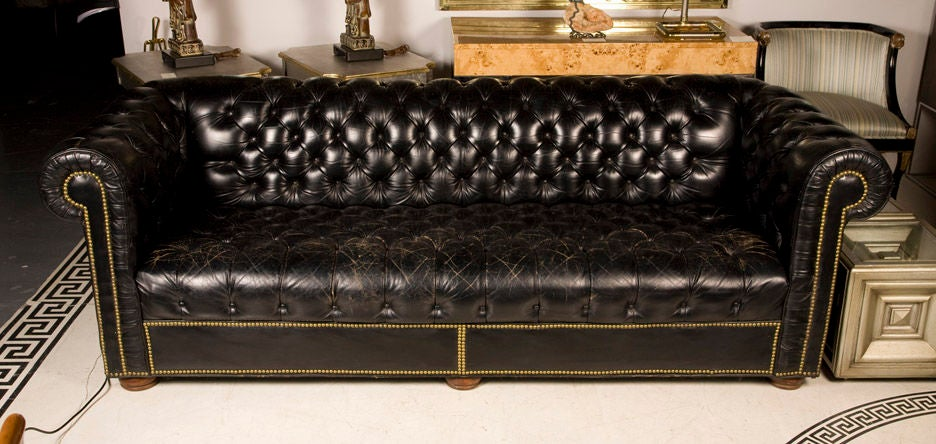 American Clic Club Room Chesterfield Sofa By Baker For