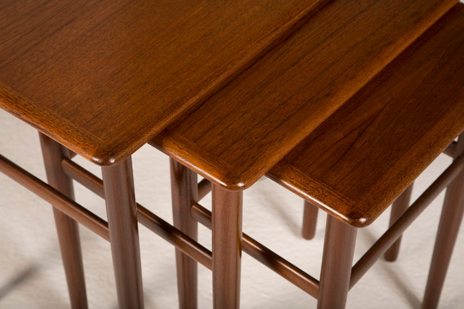 Mid-20th Century Danish Teak Nesting Tables For Sale