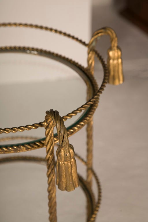 Pair Of Gilt Iron Rope And Tassel Salle De Bain Circular