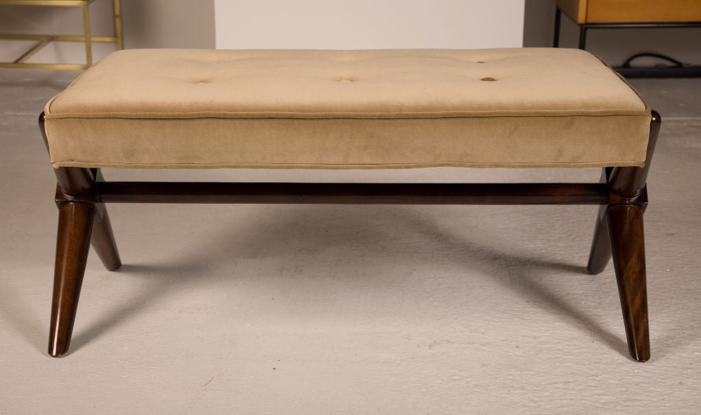 American Pair of Trestle Base Benches by T.H. Robsjohn-Gibbings For Sale