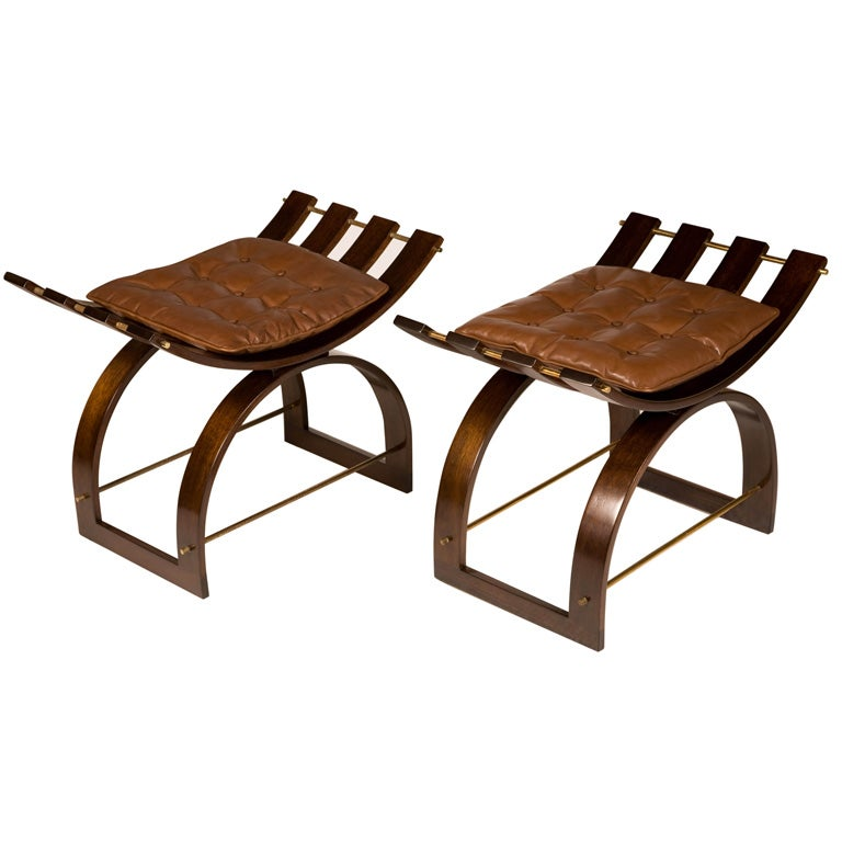 Pair of Knights Benches by Harvey Probber